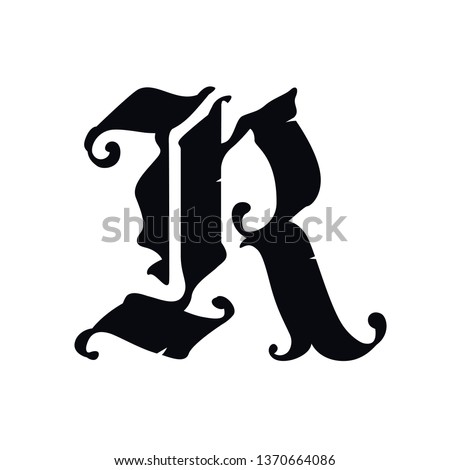 Old golden gothic letters on black, fashion calligraphy seamless pattern Stock photo © evgeny89