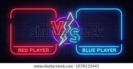 Versus screen design template, battle headline for red and blue teams Stock photo © evgeny89