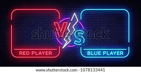 Tela modelo de design batalha manchete vermelho azul Foto stock © evgeny89