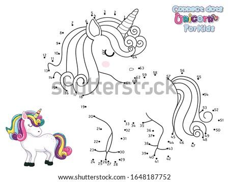 Verbinding trekken dier onderwijs spel kinderen Stockfoto © natali_brill