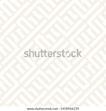 Interlacing Lines Subtle Lattice. Ethnic Monochrome Texture. Vector Seamless Black and White Pattern Stock photo © samolevsky