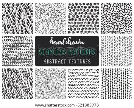 Kézzel rajzolt végtelenített ismétlés minta vonalak zsindelyezés Stock fotó © samolevsky