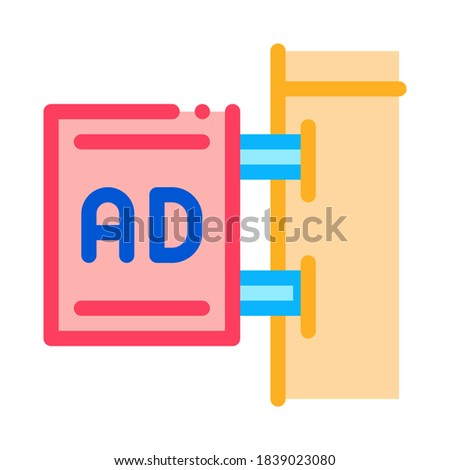 wall-mounted advertising sign icon vector outline illustration Stock photo © pikepicture