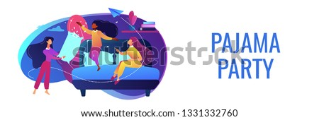 Pajama party concept banner header. Stock photo © RAStudio