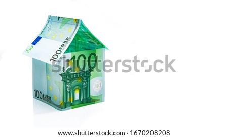 Euro Bank Notes House Stock photo © albund