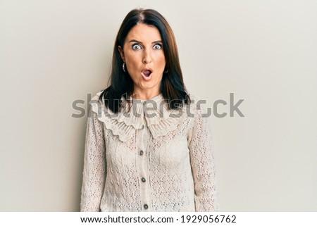 Bella donna ragazza donne bocca ritratto Foto d'archivio © iko