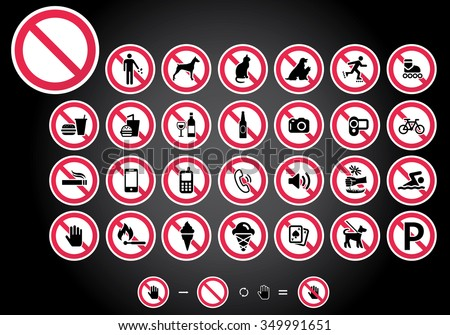 Set prohibited signs - animals Stock photo © Ecelop