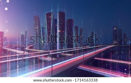 urbanas · tráfico · ciudad · carretera · coche · edificio - foto stock © lightpoet