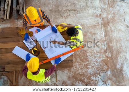 Arkadaşları çalışma inşaat plan iş kadın Stok fotoğraf © photography33