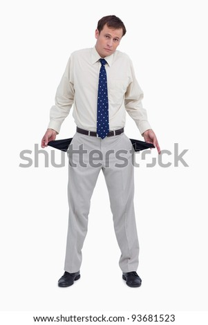 Triste empresário vazio branco negócio Foto stock © wavebreak_media