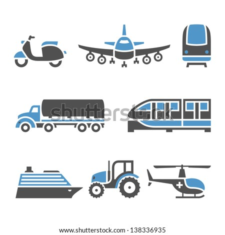 Transport Icons - A set of tenth Stock photo © Ecelop