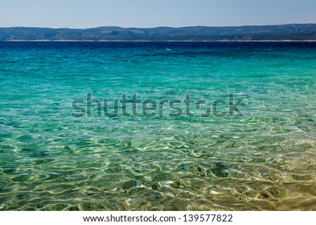 wonderful adriatic sea with deep blue water near split croatia stock photo © anshar