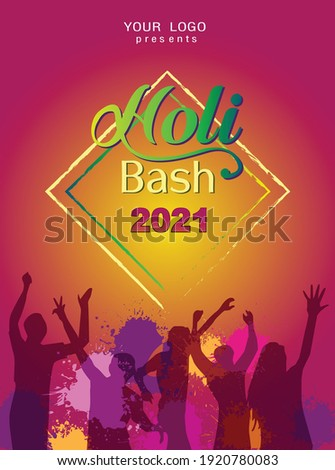 Beautiful brochure celebration indian holi colorful card templat Stock photo © bharat