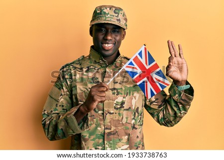 an English soldier and an American soldier are OK stock photo © philipimage