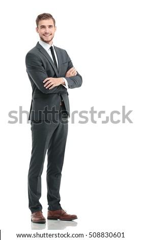бизнесмен полный уверенность изолированный Сток-фото © dgilder