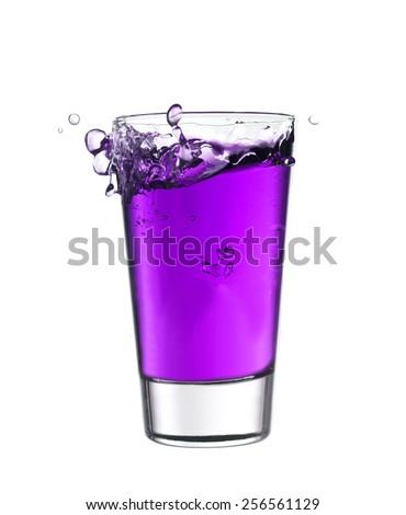 стекла Purple лимонад изолированный белый Сток-фото © gemenacom