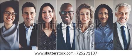 composite image of smiling businesswoman foto stock © wavebreak_media