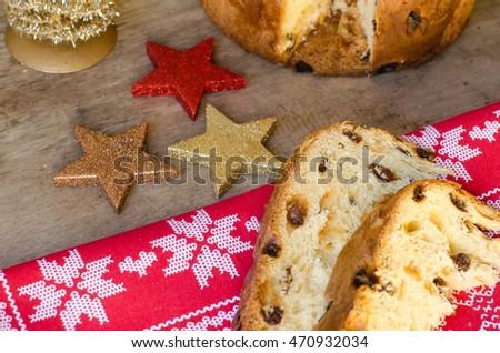 ストックフォト: 全体 · クリスマス · イタリア語 · フルーツケーキ