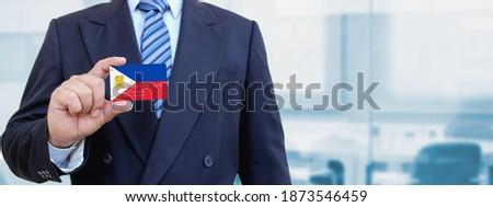 Kredi kartı Filipinler bayrak banka sunumlar iş Stok fotoğraf © tkacchuk