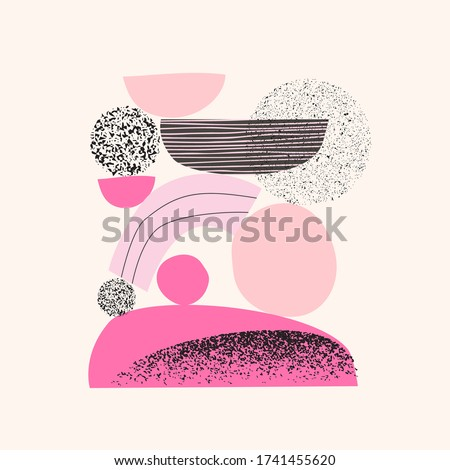 Grainy grunge abstract texture on white background. Vector splat Stock photo © cosveta