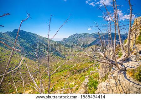 Montagne gamme route château district Chypre Photo stock © Kirill_M