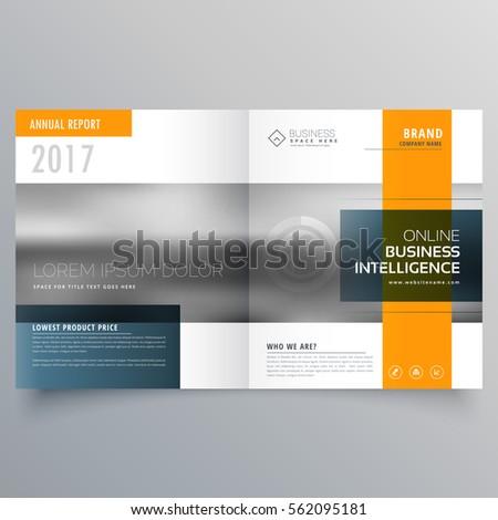 Elegancki minimalny żółty niebieski magazyn broszura Zdjęcia stock © SArts