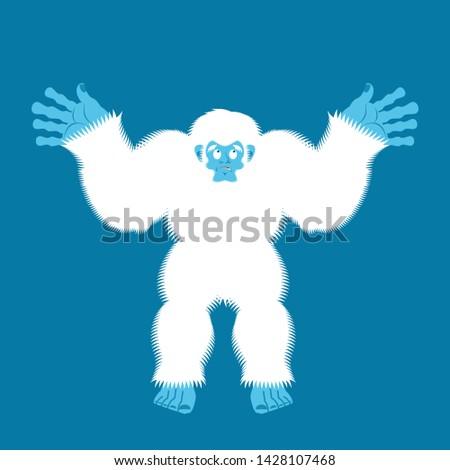 Culpable sorpresa muñeco de nieve cara feliz arte Foto stock © popaukropa