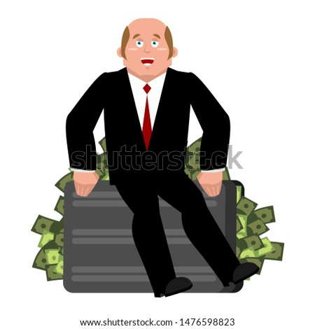 Lucky Businessman and money. Business consultant. Boss and cash. Stock photo © popaukropa