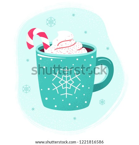 Christmas hot drink and holidays ornament; Christmas card backgr Stock photo © Konstanttin