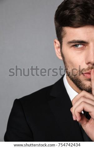 View giovani barbuto bruna uomo Foto d'archivio © deandrobot