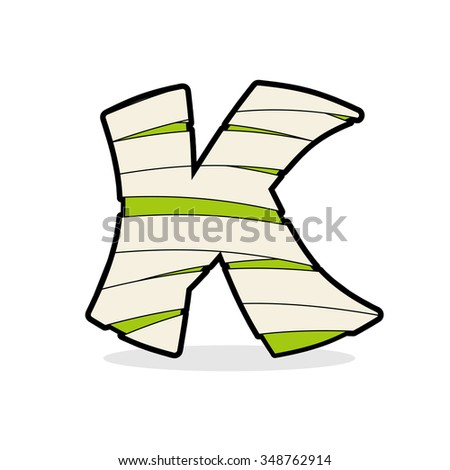 Letter K Monster zombie. Mummy ABC icon. Alphabetical icon medic Stock photo © popaukropa