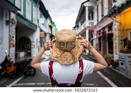 Starych phuket ulicy asia linie elektryczne Zdjęcia stock © carloscastilla