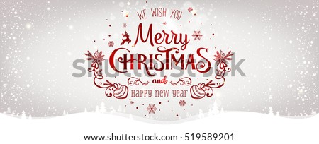 Vector Christmas illustration with typographic design on grunge background. Stock photo © articular