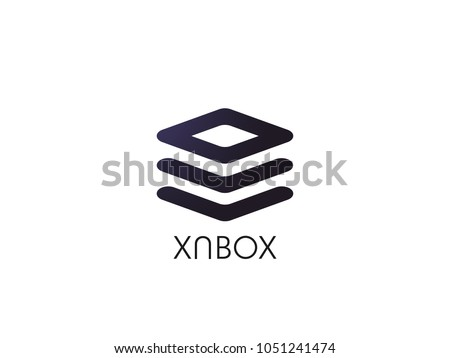 abstract stack box for corporate business or data database technology logo icon. symbol template Vec Stock photo © taufik_al_amin