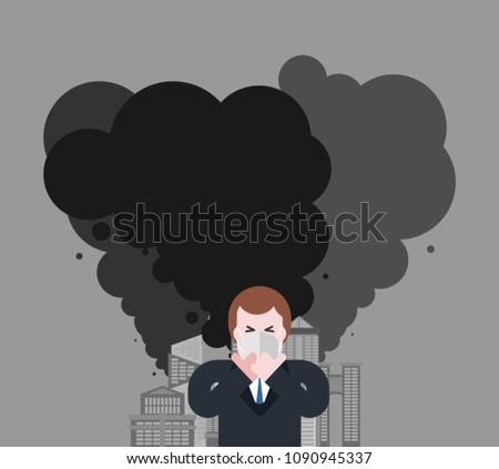 男 男 マスク ほこり 空気 ストックフォト © MaryValery