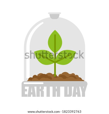 Föld napja növény üveg harang laboratórium bögre Stock fotó © popaukropa