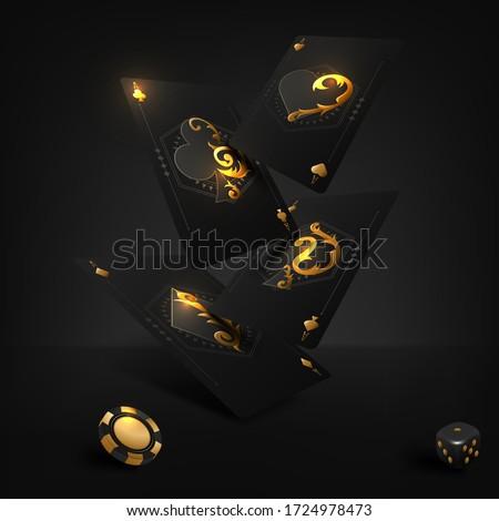 Stock fotó: Kaszinó · póker · kártyák · tiszta · hazárdjáték · terv