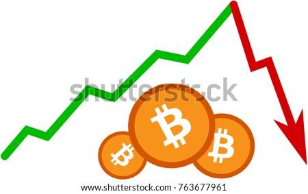 caduta · bitcoin · riduzione · prezzo · valuta · crisi - foto d'archivio © popaukropa