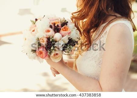 kırmızı · çiçek · el · yapımı · suluboya - stok fotoğraf © artjazz