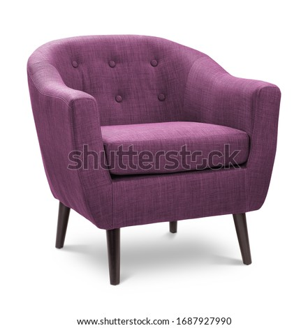 Modern white pink soft armchair with upholstery - interior design element isolated on white backgrou Stock photo © MarySan