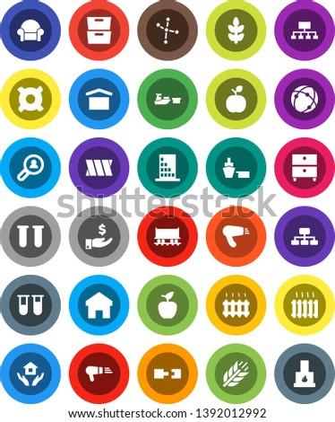 astrology house icons design illustration circle flat horoscope items concept vector illustration stock photo © linetale