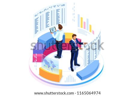 Statistics and business statement. Financial administration concept. Consulting for company performa Stock photo © makyzz