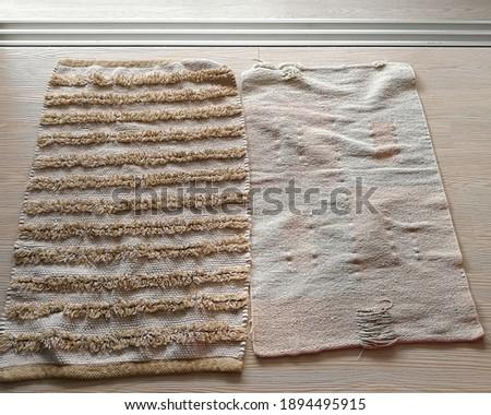 Zöld szőnyeg textúra vászon vászon fehér Stock fotó © ivo_13