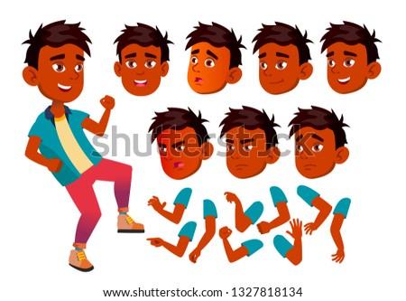 Genç erkek ayarlamak vektör Hint Asya Stok fotoğraf © pikepicture