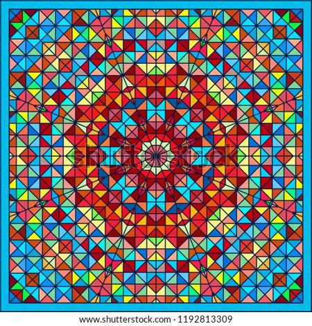 Foto stock: Abstrato · colorido · digital · decorativo · flor · geométrico
