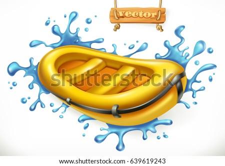 Nadmuchiwane gumy łodzi połowów turystyki wektora Zdjęcia stock © konturvid