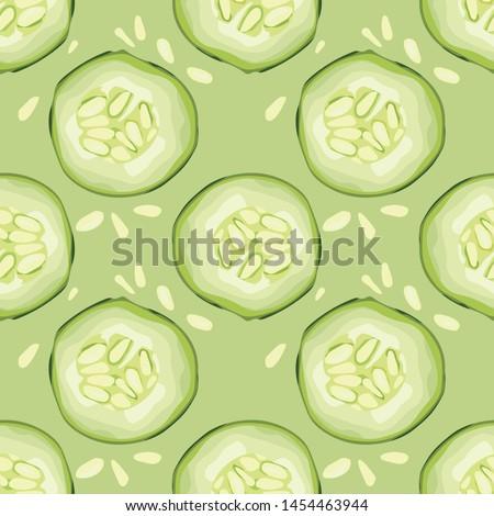 salatalık · vektör · doku · doğa - stok fotoğraf © popaukropa
