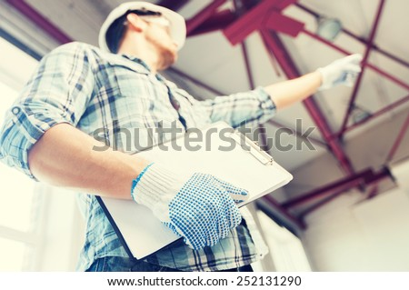 Technische blauwdrukken veiligheidshelm handschoenen bril Stockfoto © feverpitch