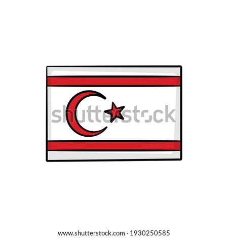 Hand Drawn National Flag Of Cyprus Isolated On A White Background. Vector Sketch Style Illustration. Stock photo © garumna