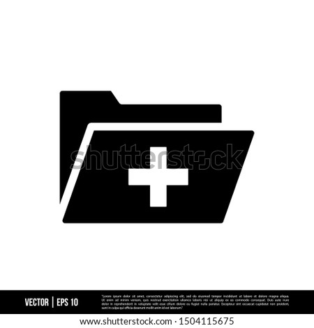 Stock photo: Folder Icon with list and checkmark in trendy flat style isolated on white background, for your web